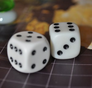 Using six-sided dice for a combat system